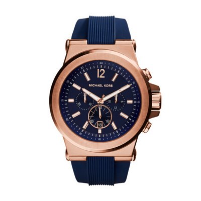Michael Kors Dylan Blue Rose Gold Mens Watch MK8295