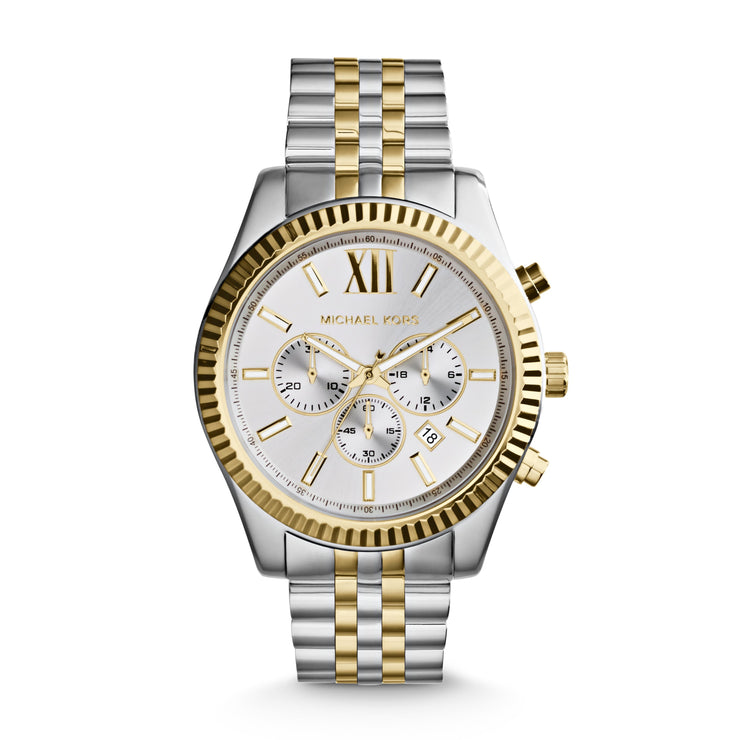 Michael Kors Lexington Two-Tone Chrono Watch MK8344