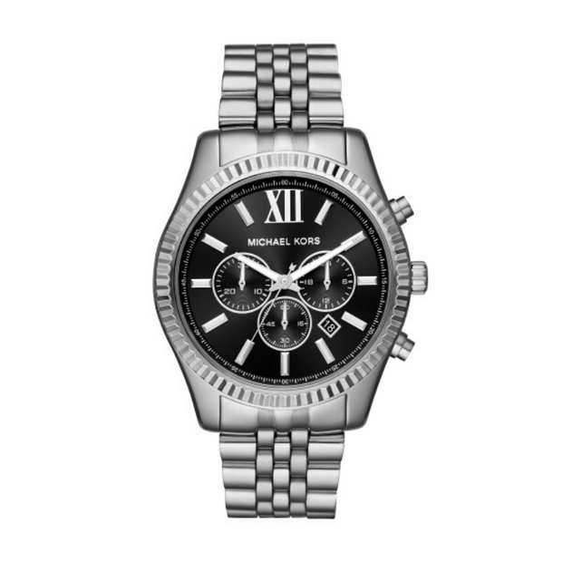 Michael Kors Lexington Steel Chronograph Mens Watch MK8602