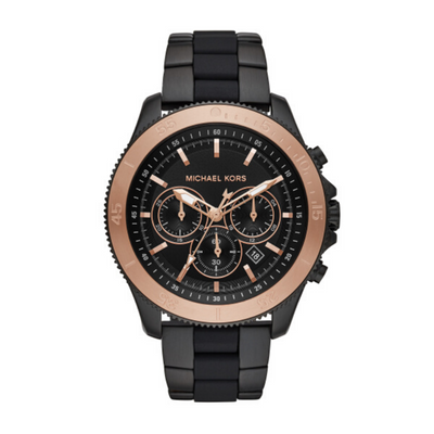 Michael Kors Cortlandt Black Chronograph Mens Watch MK8666