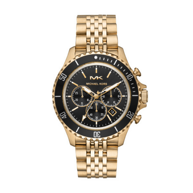 Michael Kors Bayville Gold Chronograph Mens Watch MK8726
