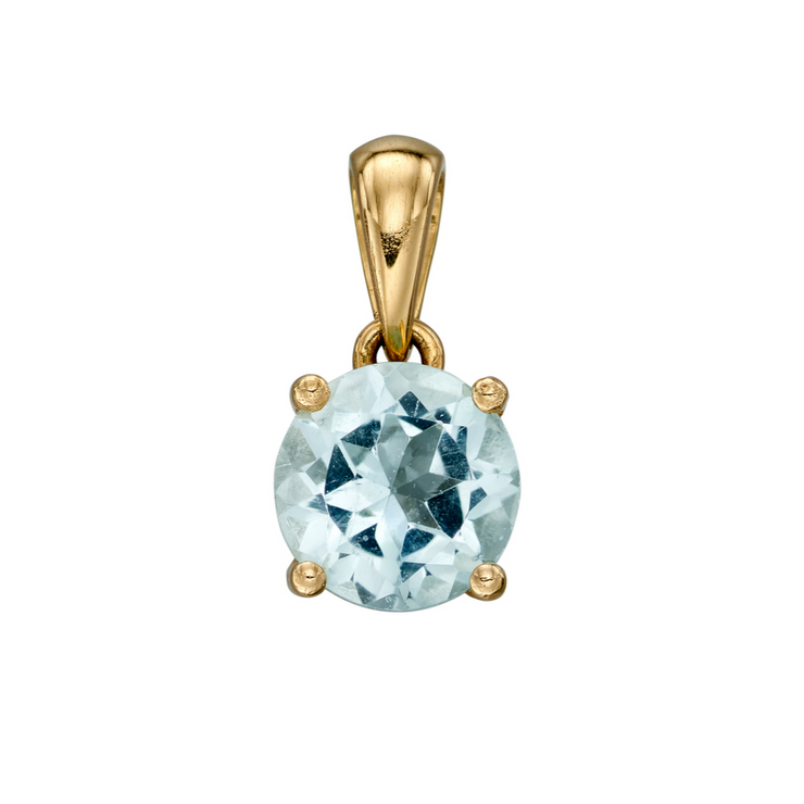 9ct Gold March Birthstone Pendant