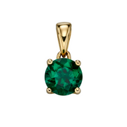 9ct Gold May Birthstone Pendant