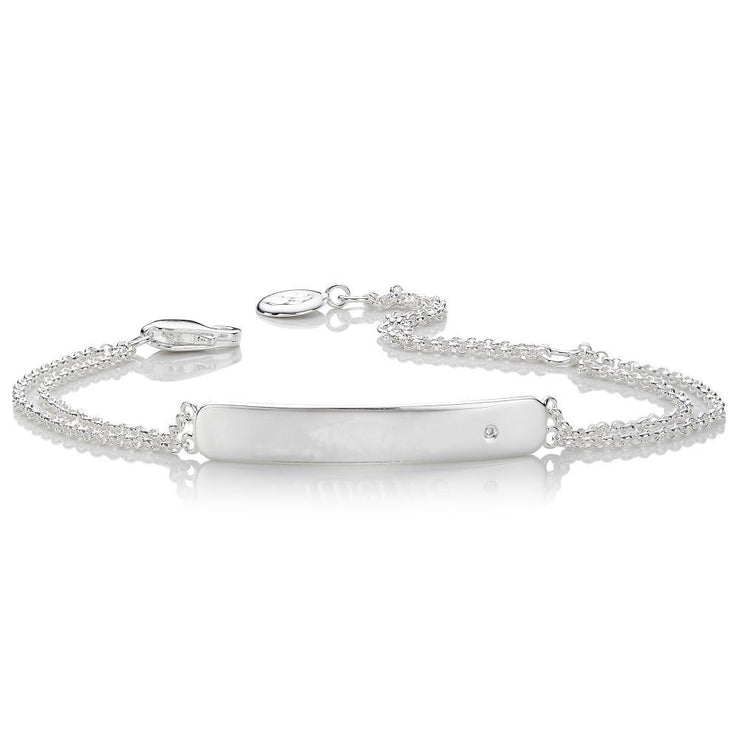 Molly Brown Personalised My First Diamond ID bracelet MB221-2