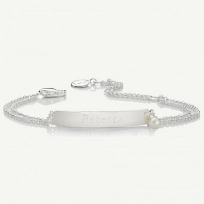Molly Brown Personalised My First Pearl ID bracelet MB222-2