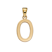 9ct Gold 'O' Initial Pendant