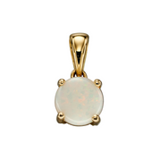 9ct Gold October Birthstone Pendant