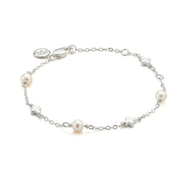 Molly Brown Pearl Station Cross Bracelet MB16-2
