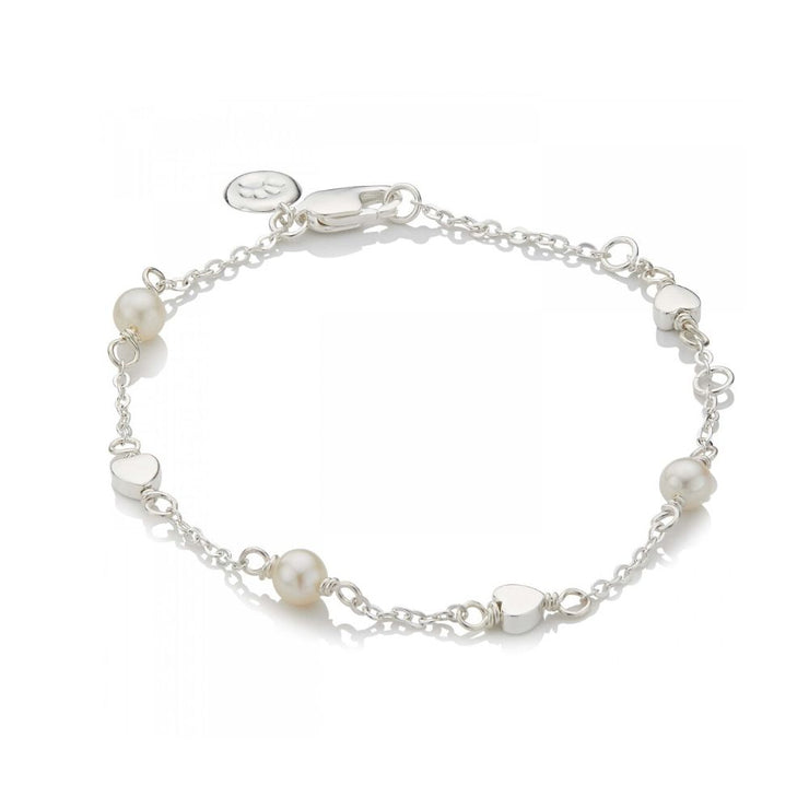 Molly Brown Pearl Station Heart Bracelet MB16-1