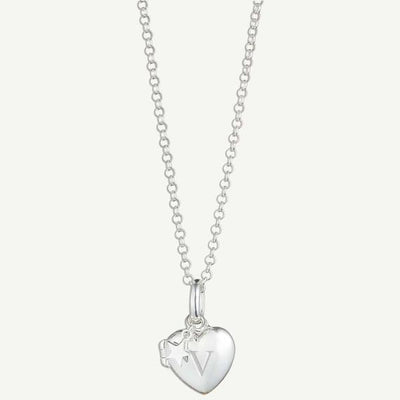 Molly Brown Personalised Small Heart Locket Necklace MB133-04