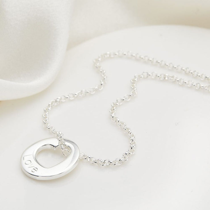 Molly Brown Personalised Hope Open Heart Necklace MB219-1