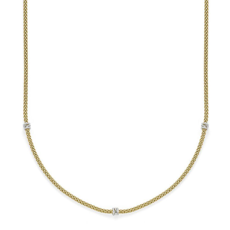 FOPE Flex'it Prima 18ct Gold Diamond Necklace 741C BBR70