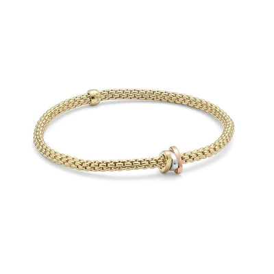 FOPE Flex'it Prima 18ct Gold Bracelet 744BM