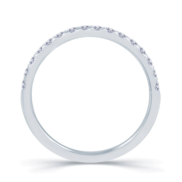 Platinum Claw-Set Diamond 0.25ct Ring