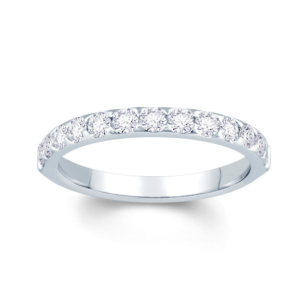 Platinum Claw-Set Diamond 0.50ct Ring