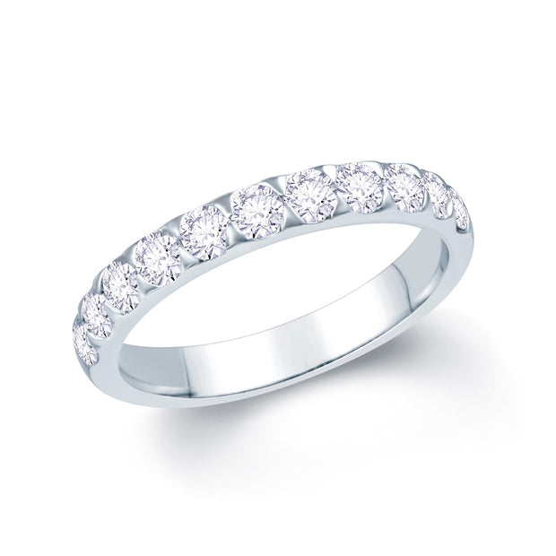 Platinum Claw-Set Diamond 0.75ct Ring