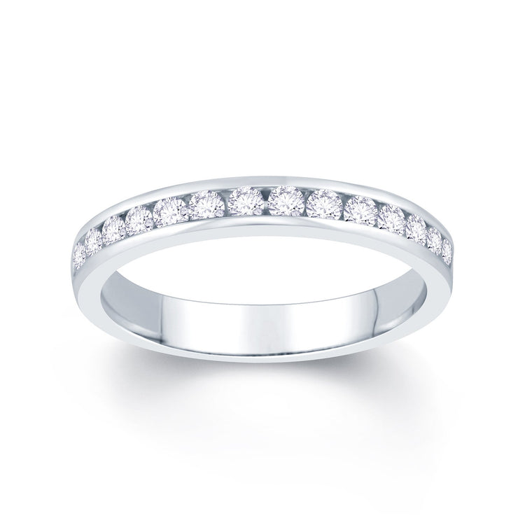 18ct White Gold Channel set 0.40ct Diamond Wedding Ring