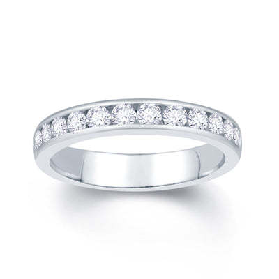 18ct White Gold Channel set 0.65ct Diamond Wedding Ring