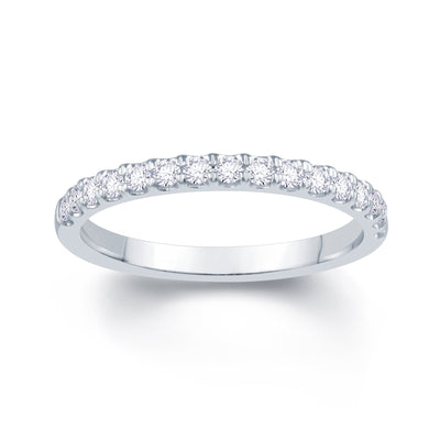 Platinum Split Claw 0.20ct Diamond Wedding Ring