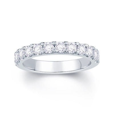 Platinum Split Claw 0.85ct Diamond Wedding Ring
