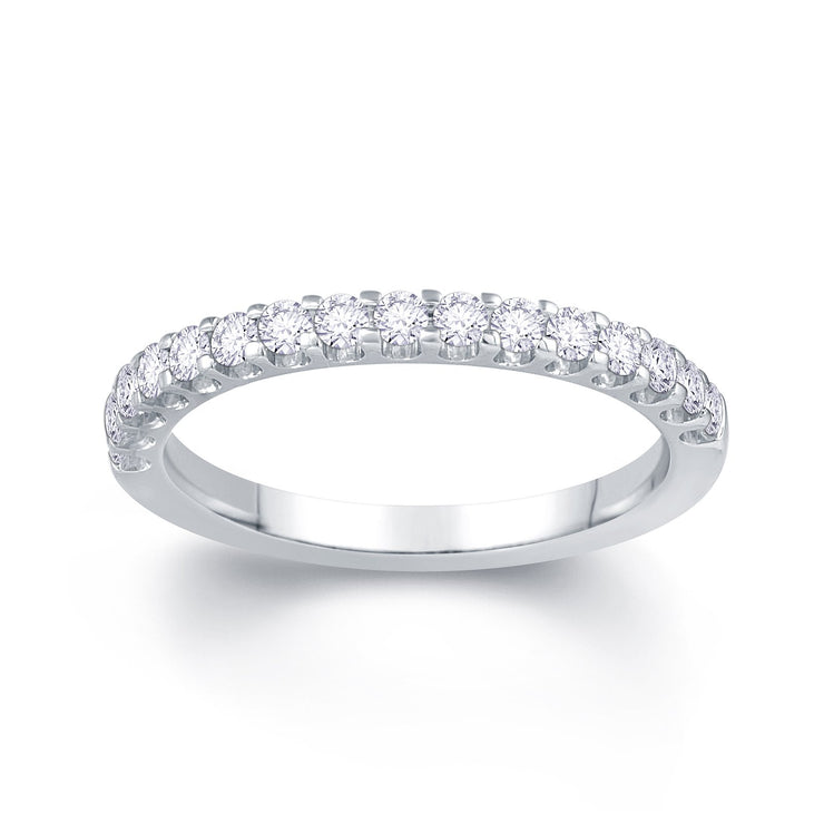 Platinum Scallop Claw 0.30ct Diamond Wedding Ring