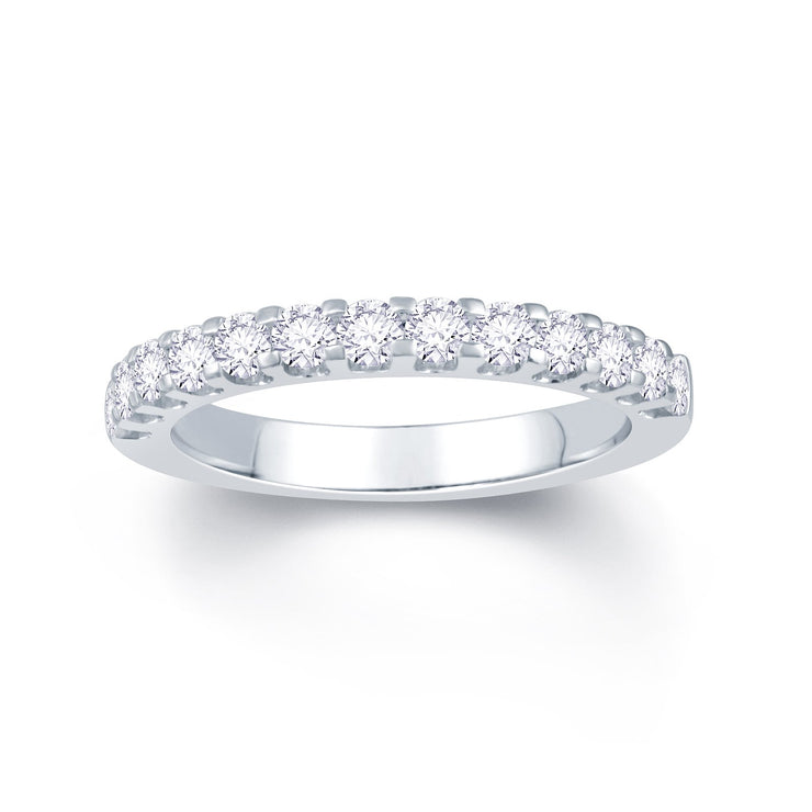 Platinum Scallop Claw 0.55ct Diamond Wedding Ring