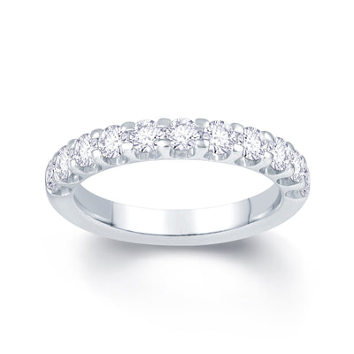 Platinum Scallop Claw 0.85ct Diamond Wedding Ring