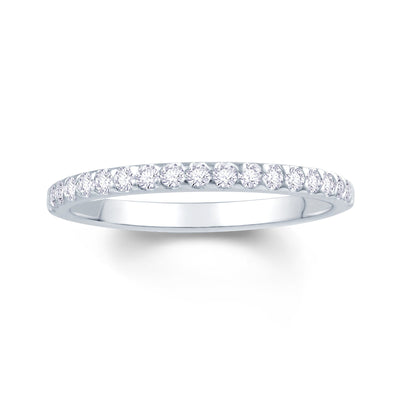 Platinum Triangle Claw 0.15ct Diamond Wedding Ring