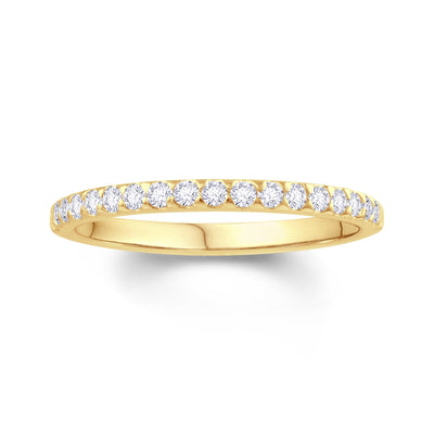 18ct Yellow Gold Triangle Claw 0.15ct Diamond Wedding Ring