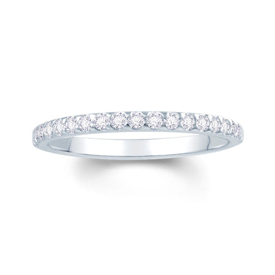 Platinum Claw-Set Diamond 0.15ct Ring