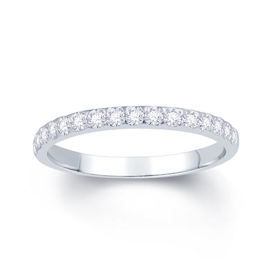 Platinum Triangle Claw 0.25ct Diamond Wedding Ring
