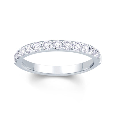 Platinum Triangle Claw 0.50ct Diamond Wedding Ring
