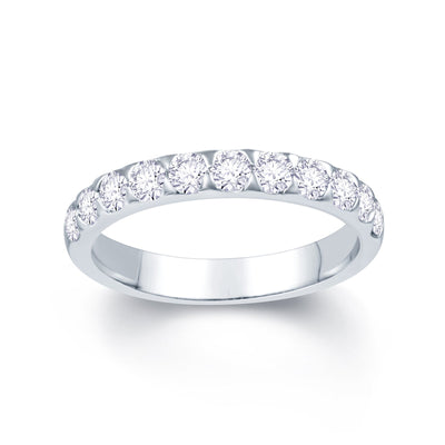 18ct White Gold Triangle Claw 0.75ct Diamond Wedding Ring