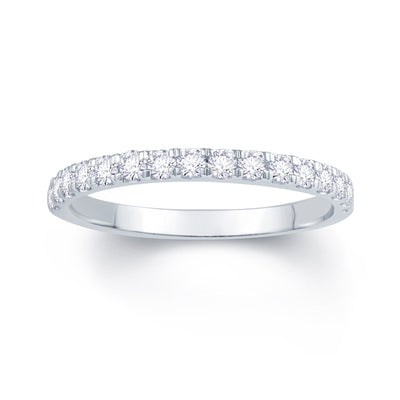 18ct White Gold Split Claw 0.30ct Diamond Wedding Ring