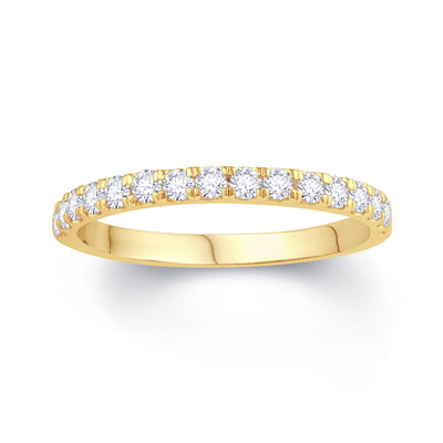 18ct Yellow Gold Split Claw 0.30ct Diamond Wedding Ring