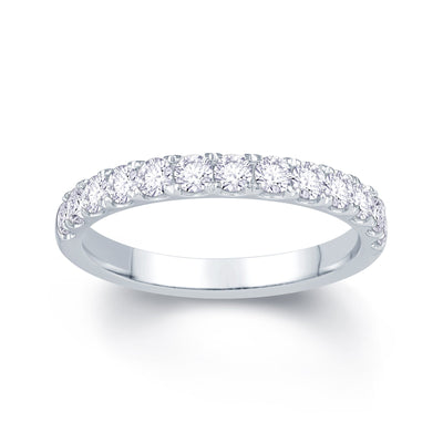 Platinum Split Claw 0.55ct Diamond Wedding Ring