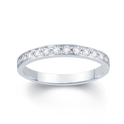 Platinum Pave Set 0.30ct Diamond Wedding Ring