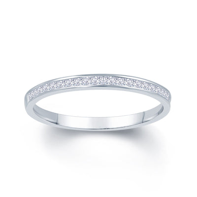 Platinum Princess Cut 0.25ct Diamond Wedding Ring
