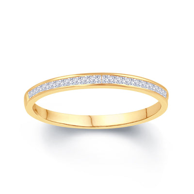 18ct Yellow Gold Princess Cut 0.25ct Diamond Engagement Ring