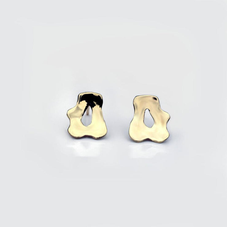 Martina Hamilton Reflections 9ct Gold Stud Earrings RFB2.G9