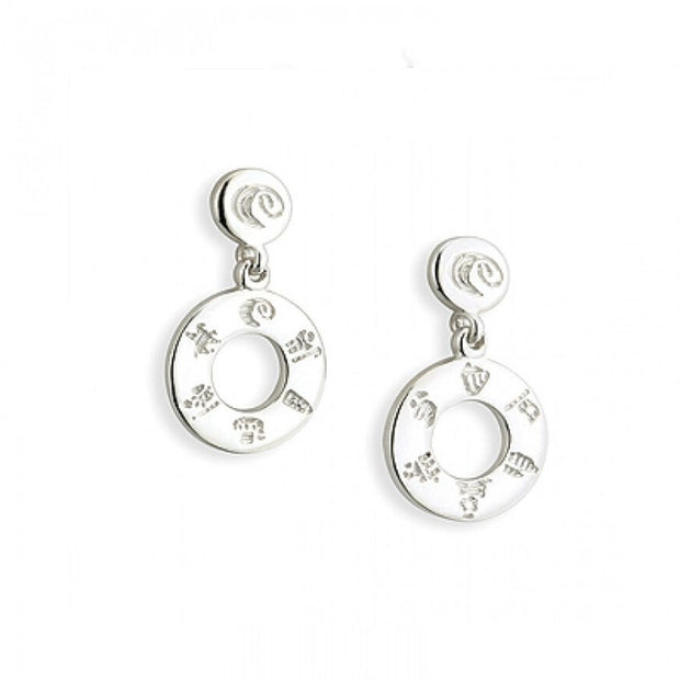 History of Ireland Silver Doughnut Earrings S33419