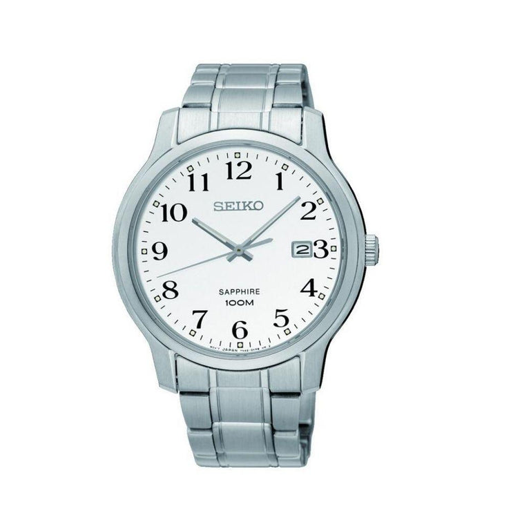Seiko Steel White Dial Mens Watch SGEH67P1