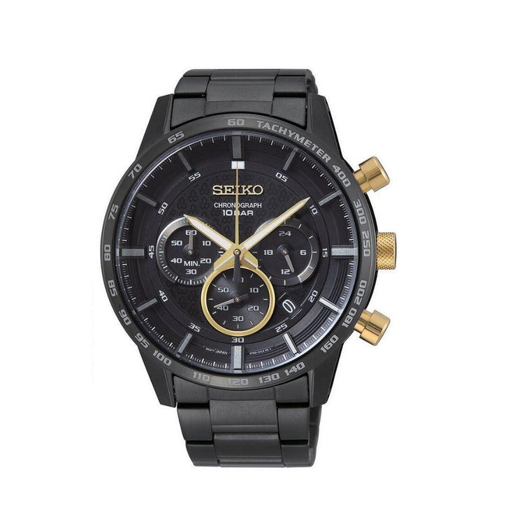Seiko Black Ion Chronograph Mens Watch SGEH83P1