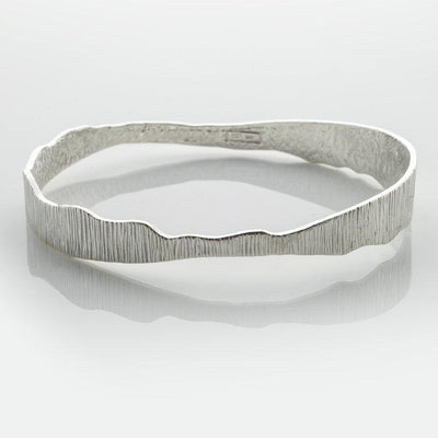 Martina Hamilton Shell Silver Bangle SH8