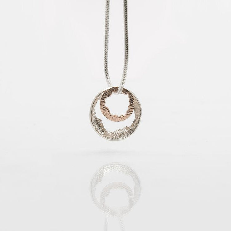 Martina Hamilton Shell Silver and Rose Gold Necklace SHAB3GK