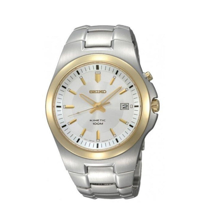 Seiko Kinetic Two-Tone Mens Watch SKA458P1