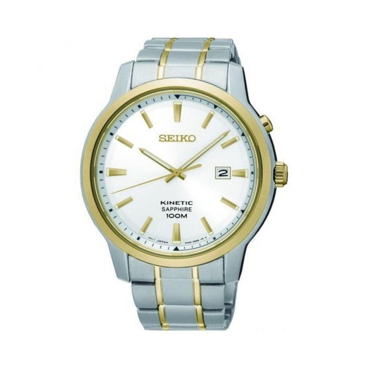 Seiko Kinetic Two-Tone Mens Watch SKA742P1