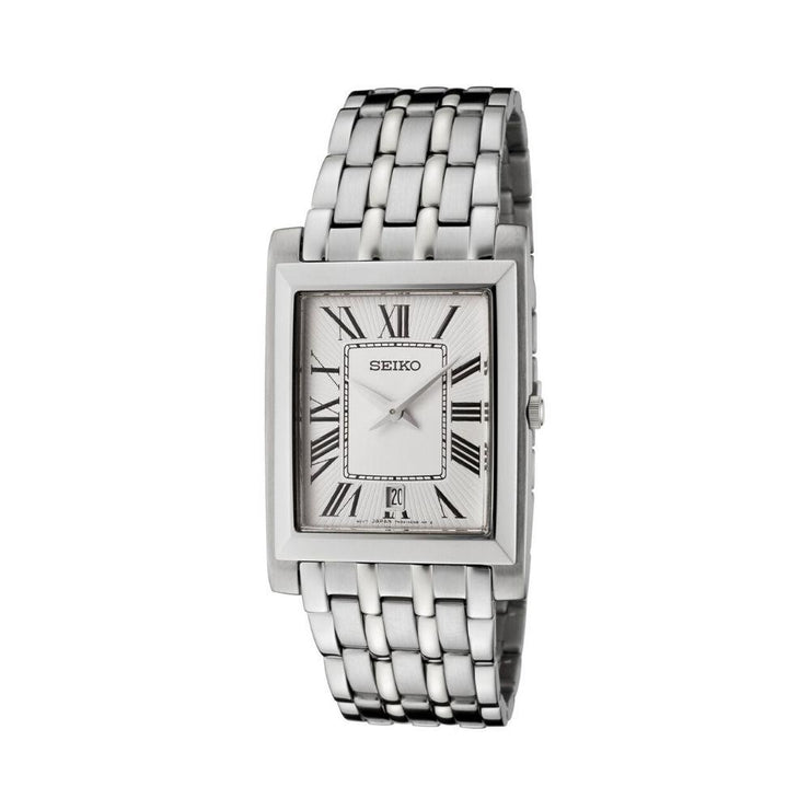 Seiko Steel Rectangle Mens Watch SKP357P1