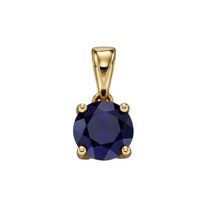 9ct Gold September Birthstone Pendant