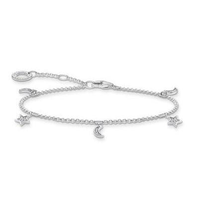 Thomas Sabo Silver Moon and Star Bracelet